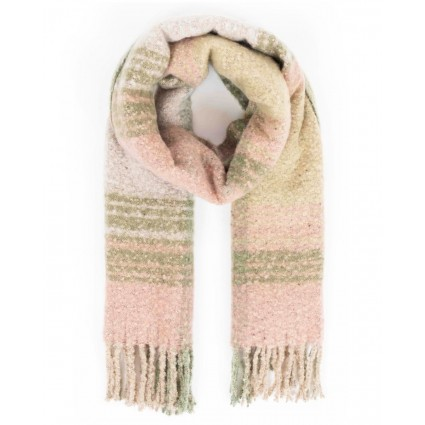 Powder Maggie Checked Scarf Moss