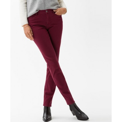 Brax Mary Slim Leg Brilliant Jeans Cranberry