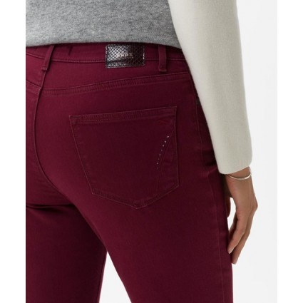 Brax Carola Feminine Fit Brilliant Jeans Cranberry