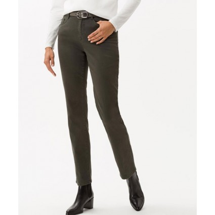 Brax Mary Brilliant Slim Leg Jeans Khaki