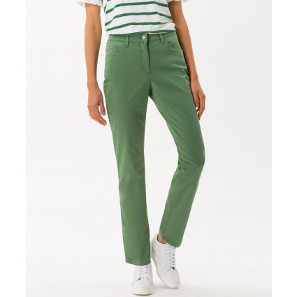 Brax Mary Sport Slim Leg Trousers Green