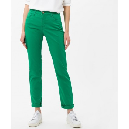 Brax Mary Slim Fit Sport Trousers Green