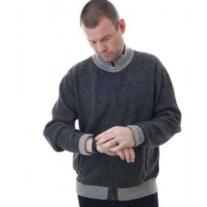 Alpaca Ishmael Zipped Sweater Grey