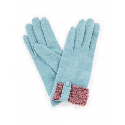 Powder Monica Wool Gloves Ice