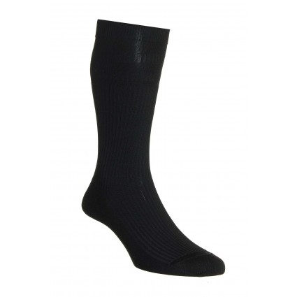 Pantherella Ickburgh Soft Top Cotton Socks Black