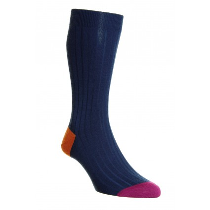 Pantherella Mens Stratford Merino Socks Blue