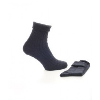 Alpaca & Wool Turn Down Top Socks Navy
