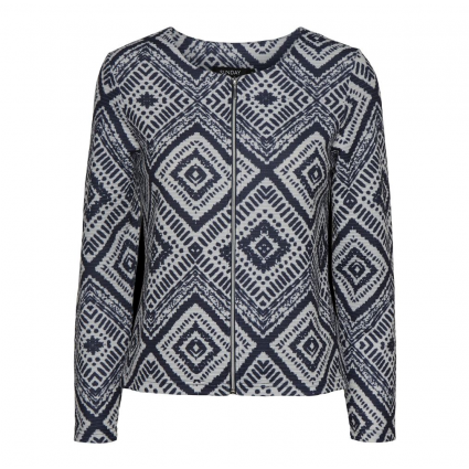 Godske Textured Navy and White Zipped Cardigan