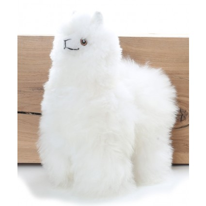 Alpaca Cuddly Toy White