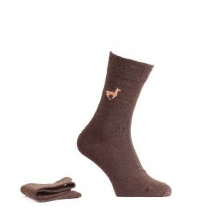 Alpaca Socks Motif Brown