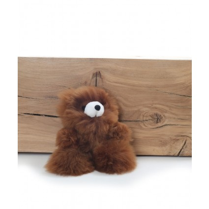 Alpaca Teddy Bear Brown Small