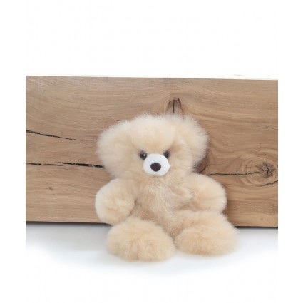 Alpaca Teddy Bear Champagne Small
