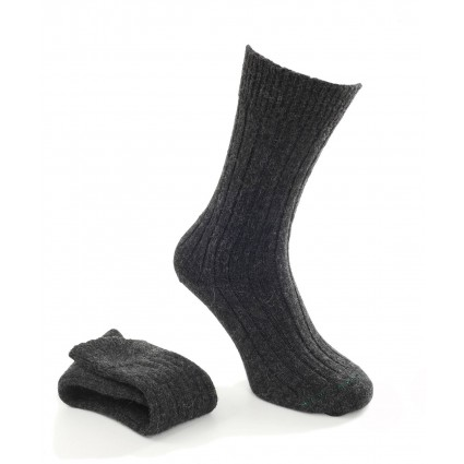 House of Cheviot Mens Alpaca Socks Charcoal