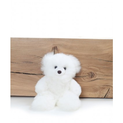Alpaca Teddy Bear White Small