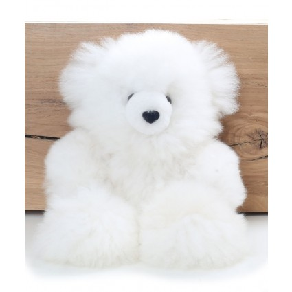 Alpaca Teddy Bear White Medium