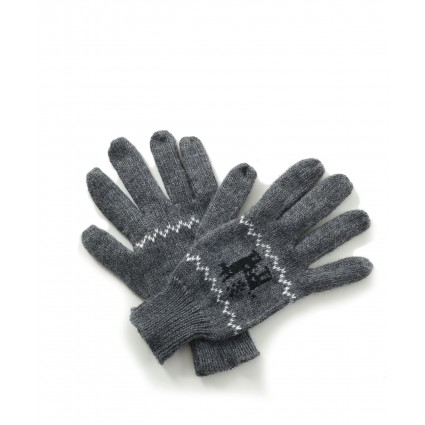 Alpaca Gloves Motif Charcoal