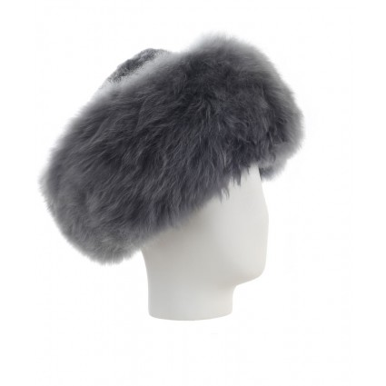 Baby Alpaca Fur Hat Grey