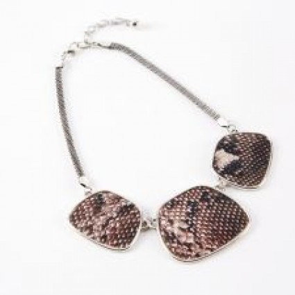 Dante Red Snakeprint Necklace