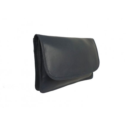 Nova 0502 Clutch Leather Handbag Navy