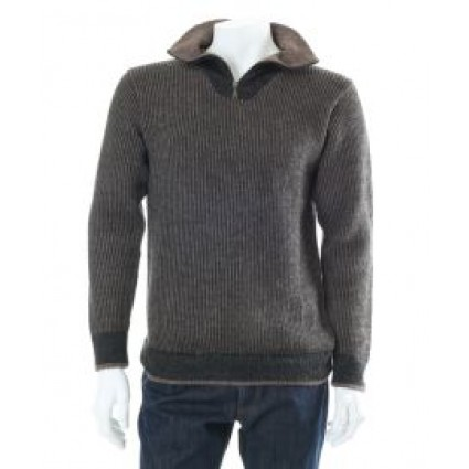 Alpaca Owen Sweater Brown