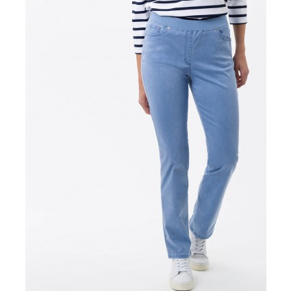 Brax Pamina Slim Pull On Jeans Regatta Blue