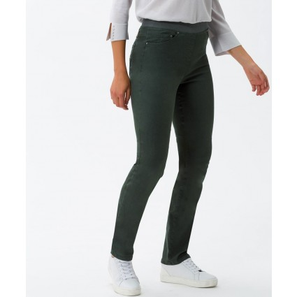 Brax Pamina Pull On Slim Jeans Green