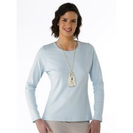 Artisan Route Patricia Pima Cotton T-Shirt Omphalodes Light Blue