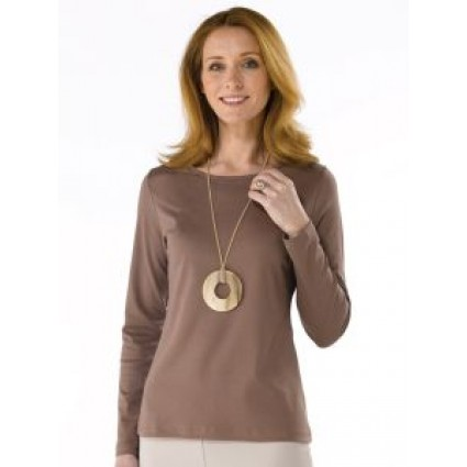 Artisan Route Patricia Pima Cotton Top Otter Brown