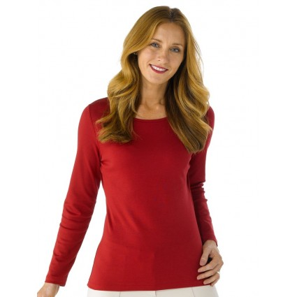 Artisan Route Patricia Pima Cotton Top Ruby