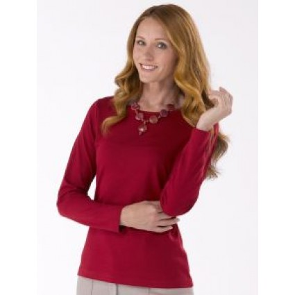 Artisan Route Patricia Pima Cotton Top Carmin Red