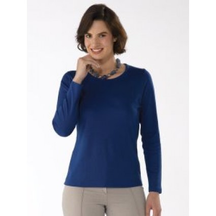 Artisan Route Patricia Pima Cotton Top Royal Blue