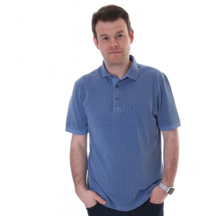 Brax Perry Polo T-Shirt Blue Print