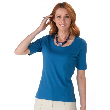 Artisan Route Pilar Pima Cotton T-Shirt Lapis Blue