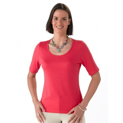 Artisan Route Pilar Pima Cotton T-Shirt Raspberry Pink