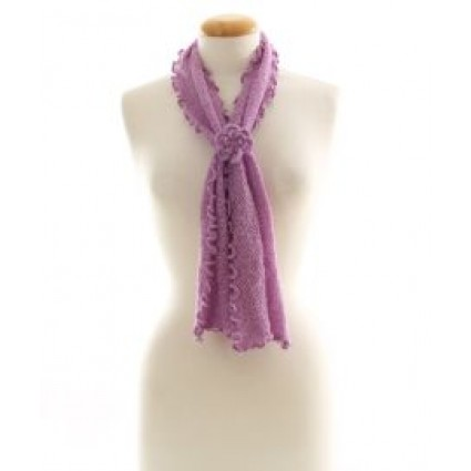 Alpaca Clothing Co Curly Edge Scarf Pink