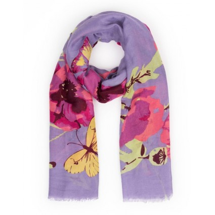 Powder Poppy Print Scarf