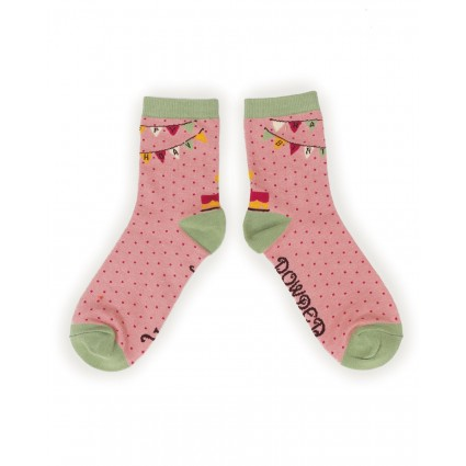 Powder Bamboo Happy Birthday Socks