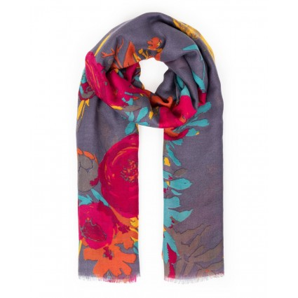 Powder Floral Squirrel Scarf