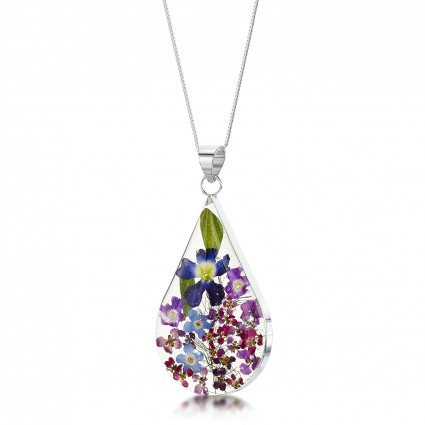 Shrieking Violet Sterling Silver Purple Haze Teardrop Necklace