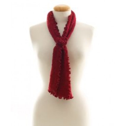 Alpaca Clothing Co Curly Edge Scarf Red