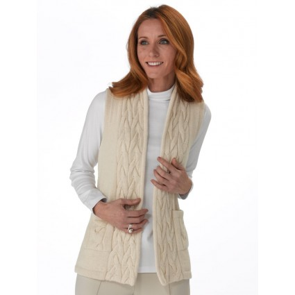 Artisan Route Rowena Alpaca Waistcoat Natural Cream by Raffa