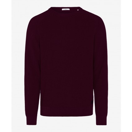 Brax Roy Crew Neck Jumper Burgundy