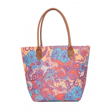Powder Paisley Beach Bag