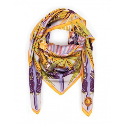 Powder Elephant Parade Satin Scarf
