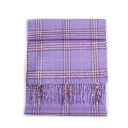Royal Baby Alpaca Scottish Woven Scarf Lilac