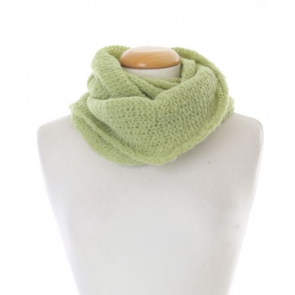 Baby Alpaca Snood Lime