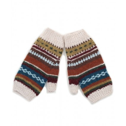 Alpaca Fingerless Gloves Autumn