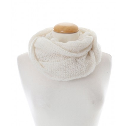Baby Alpaca Snood Natural