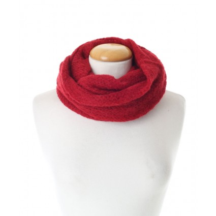 Baby Alpaca Snood Red