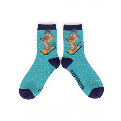 Powder Bamboo Sledging Mouse Socks
